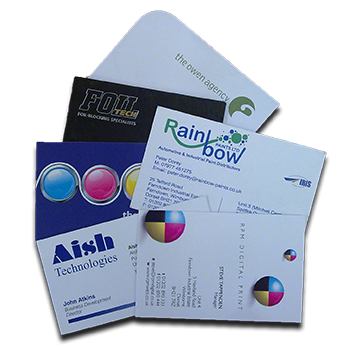 Business Card Stationery commercial print & private printing service automated personalisation, print finishing local delivery Bournemouth Poole Ferndown Wimborne Dorset
