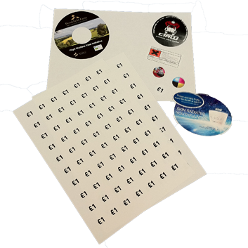 Stickers & Labels commercial print & private printing service automated personalisation, print finishing local delivery Bournemouth Poole Ferndown Wimborne Dorset